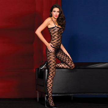Hot Deal Cute On Sale Black Sexy See Through One-piece Exotic Lingerie [6596492803]