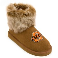 Oklahoma State Cowboys Faux-Fur Bootie Slippers Women