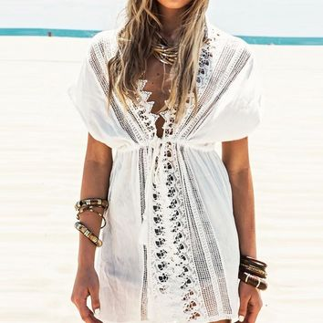 Lace Cover Up Beach Dress
