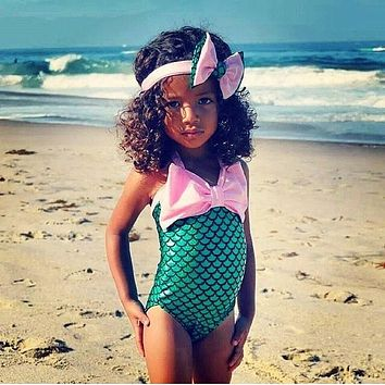 Little Mermaid 2017 kids bathing suit children swimwear Kids Girls Child one piece swimsuit swimwear bathing suit for girls