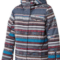Roxy Jetty Womens Snowboard Jacket - Toluca Stripe/Anthracite