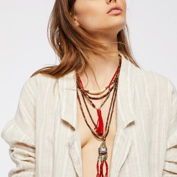 Free People Sun Ceremony Layered Necklace
