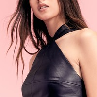 Free People Estelle Leather Midi Dress