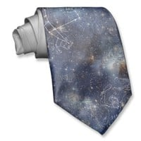Starry Space Constellations Tie
