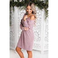 Nakita Cut Out Dress (Mauve)