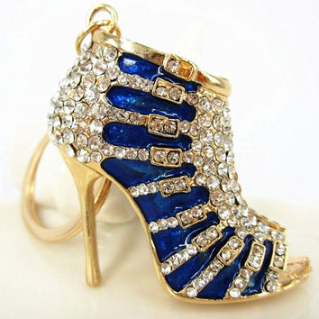 Beautiful Crystal High Heel Key Ring/ Purse Charm