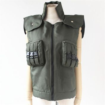 Hot Japanese Anime NARUTO Cosplay Costumes Hatake Kakashi Green Unisex Vest Garment D 018 55