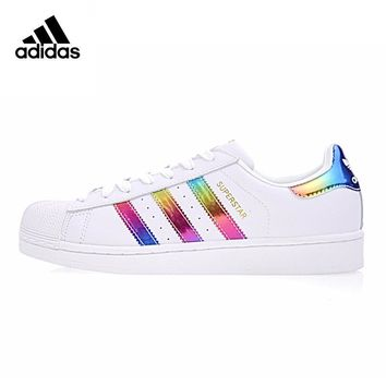 Original New Arrival Official Adidas SUPERSTAR Gold Label Women's Skateboarding Shoes Sport Outdoor Sneakers Breathable S81015