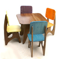 Modern Child Table set - 4 chair option