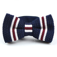 Men Knitted Bowties Mens Neckties Men's Bow Ties - Fashion Self ties Vintage Knitting Bowties Wedding Bow Ties for Men