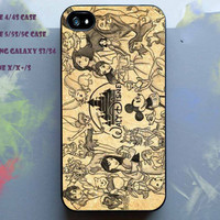 All disney heroes drawing cover case for iPhone, Samsung Galaxy, iPod, HTC