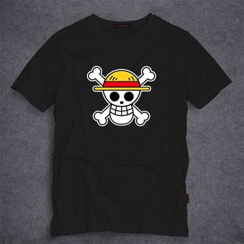 One Piece Men's T Shirt Luffy Straw Hat