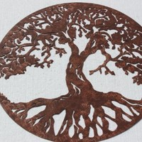 Tree of Life Sign Metal Wall Art