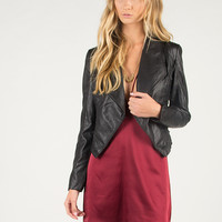 Side Blinds Leatherette Jacket