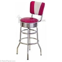 V-Back Bar Stool Retro Bar Stools Design