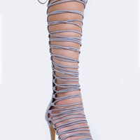 STRAPPY KNEE HIGH SANDAL