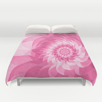 Surreal pink flower Duvet Cover by Natalia Bykova