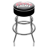 Coors Light Logo Padded Bar Stool - Made In USA