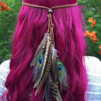 Wild Feather Headband #B1060