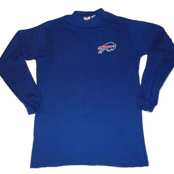 Buffalo Bills Long Sleeve Shirt Mock Turtleneck Big and Tall NFL Team Apparel