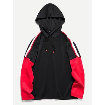 Men Colorblock 2 In 1 Hoodie