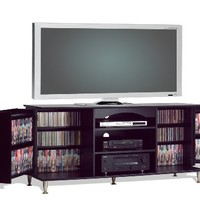 My Associates Store - Prepac 60-Inch Plasma TV Console with Media Storage, Black