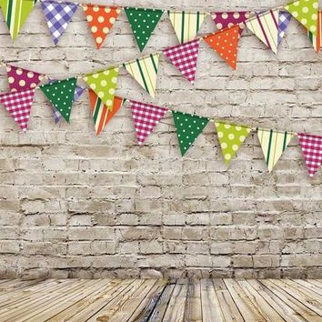 BRICK WALL BUNTING TITANIUM CLOTH BACKDROP - 5x6 - LCTC9078 - LAST CALL