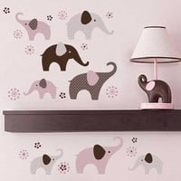 Carters  Floral Baby Girl Elephant Wall Decor