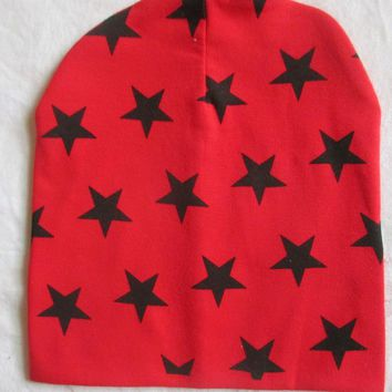 Baby Outfitting Star Print Beanie Caps Kids Winter Warm Sports Cap Toddler Infant Outdoor Crochet Knit Hat