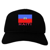 Haiti Flag Dark Adult Dark Baseball Cap Hat