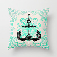 Anchored in the Light... Throw Pillow by Lisa Argyropoulos | Society6