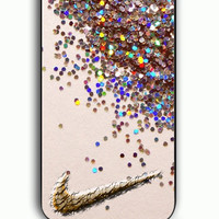 iPhone 5C Case - Rubber (TPU) Cover with nike glitter Rubber Case Design