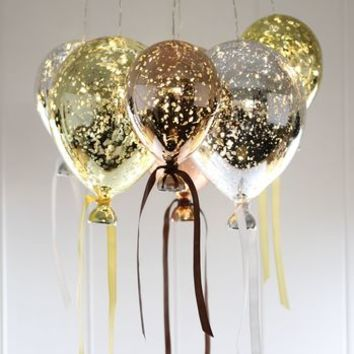 Hanging Mirrored Metallic Balloon Lights