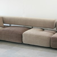 Contemporary style 2 seater 3 seater 4 seater leather sofa DOMINO by D3CO by Barzaghi Danilo | design Davide Barzaghi