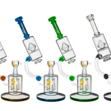 "TSUNAMI PREMIUM MICROSCOPE GLASS WATER PIPE (14"")"
