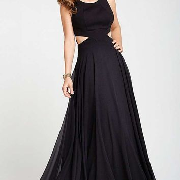 Black Cut Out Prom Dress 21880