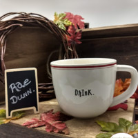 Rae Dunn Red Line Drink Coffee Cup