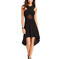 WishesWishesWishes Juniors Dress, Sleeveless Cutout Sheer High-Low - Juniors Dresses - Macy's