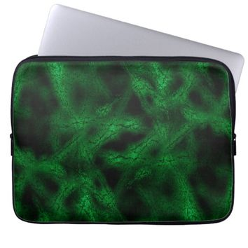 Green virus pattern laptop sleeve