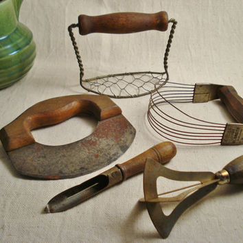 Collection of Vintage Kitchen Tools / Vintage Kitchen Utensils / Antique Kitchen Utensils