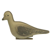 Old Pigeon Decoy, Homing Pigeon Clip on Paper Mache Bird, Vintage Hunting