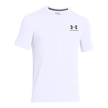 Men's UA Charged Cotton® Sportstyle Tee in White by Under Armour