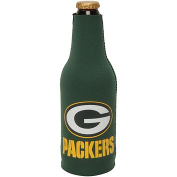 NFL Green Bay Packers Zip Up Beer Bottle Suit Insulator Holder Koozie Football