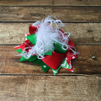 Over the Top Christmas Hair bow, Baby Christmas Headband, Over the top bow, Red, Green, Hair bows for Girls, Hairbow