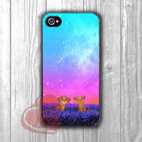 The Lion King cute with starlight sky -dta for iPhone 4/4S/5/5S/5C/6/ 6+,samsung S3/S4/S5,samsung note 3/4