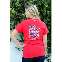 Southern Darlin Georgia State Home Sweet Home GA Pattern Bright Girlie T-Shirt