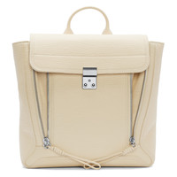 Cream Leather Pashli Backpack