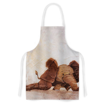 "Rachel Kokko ""The Elephant with the Long Ears"" Artistic Apron"