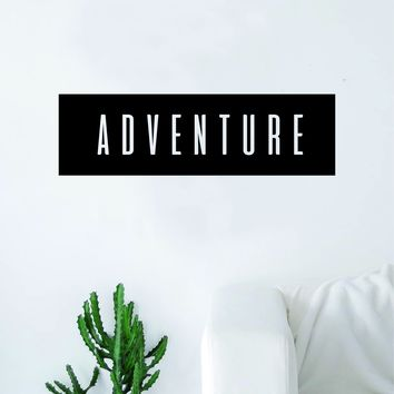 Adventure Rectangle Wall Decal Sticker Vinyl Art Bedroom Living Room Decor Quote Travel Explore Wanderlust