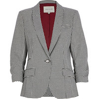 River Island Womens Black houndstooth blazer